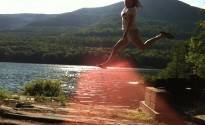 By (lake) George! Its a leap!
