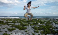Windy leapin' in Tulum!
